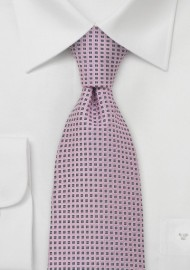 Pink and Smoke Gray Silk Tie