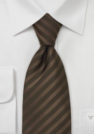 Kids Silk Tie in Chocolate Brown