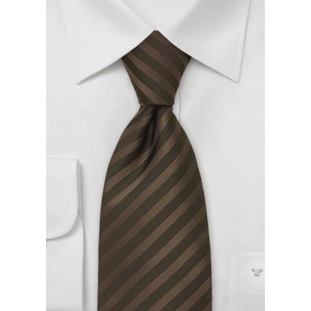 Kids Silk Tie in Chocolate Brown