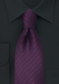 XL Tie in Purple and Black