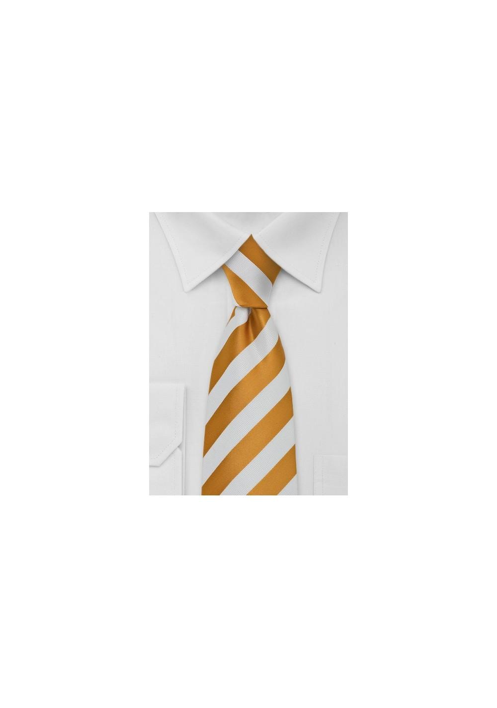 Amber and White Necktie