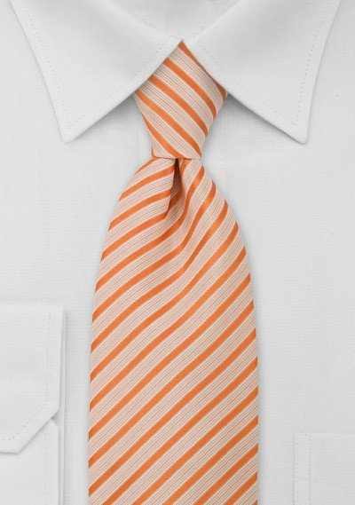 Striped Kids Tie in Orange White