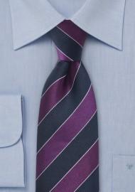 Necktie Midnight Blue Purple