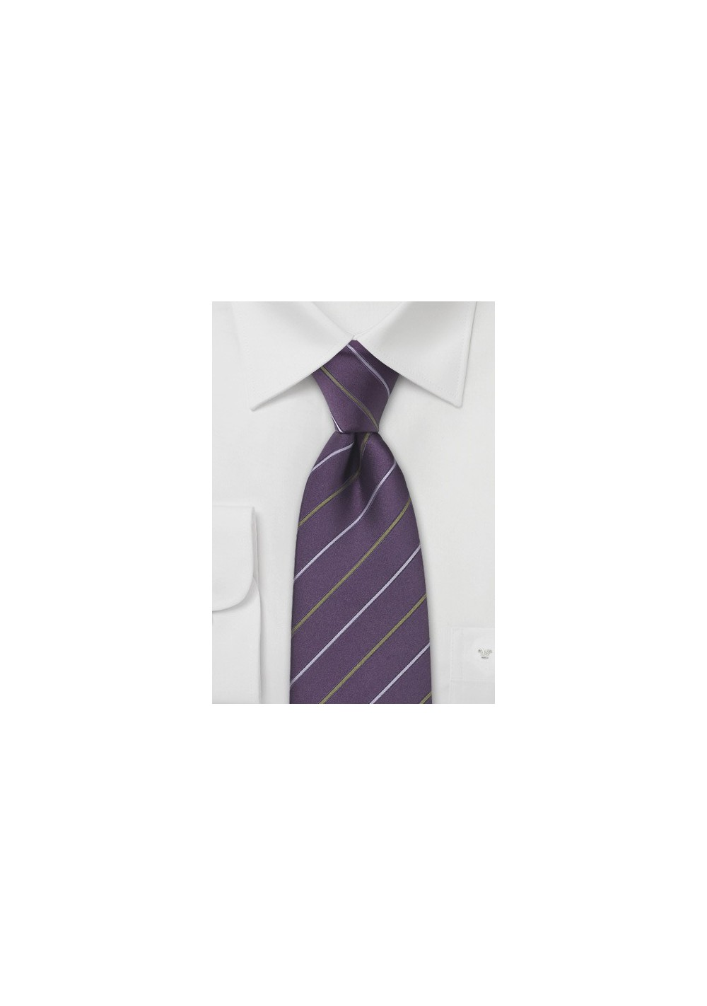 Dark Purple Striped Tie