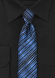 Blue and Black Skinny Tie