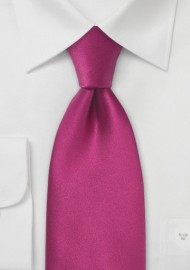 Solid Silk Tie in Hot Pink