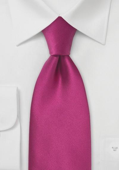 Solid Silk Tie in Hot Pink