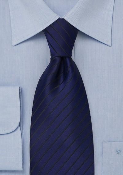 Sapphire Blue and Black Kids Tie