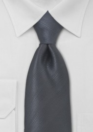 Charcoal Gray Mens Tie