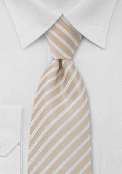 Wheat Tan Striped Tie