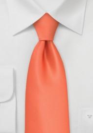 Bright Coral Orange XL Tie