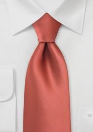 Cognac Orange Mens Necktie