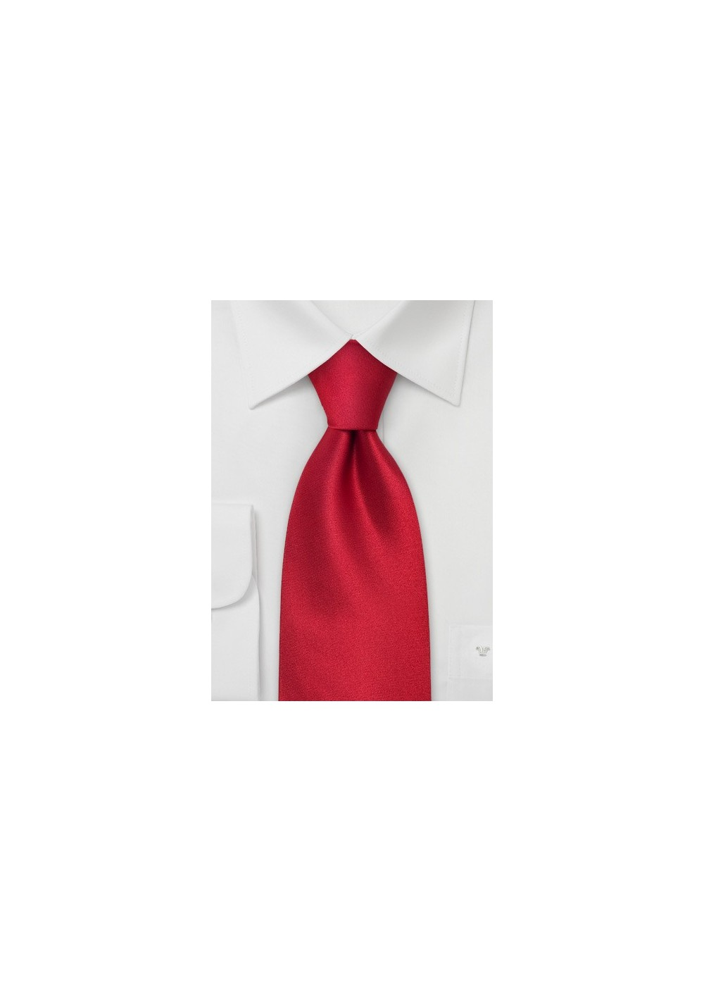 Solid Red Silk Tie for Kids
