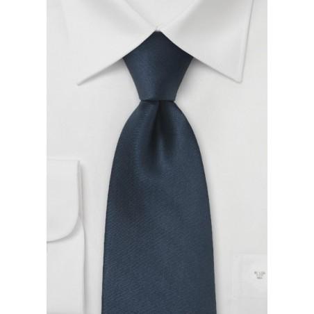 Dark Navy Blue Kids Silk Tie