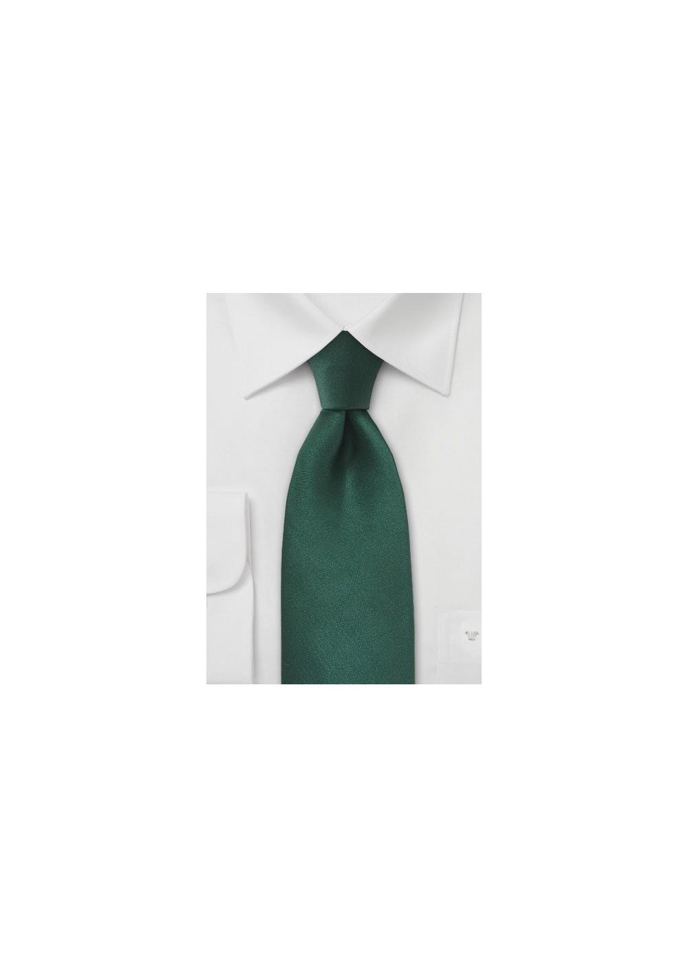 Bright Hunter Green Tie in XL