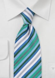 Trendy Mens Tie with Narrow Stripes