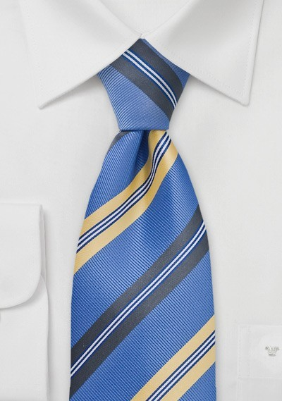 Classic Blue and Yellow Tie