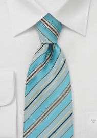 Pool Blue Striped Necktie