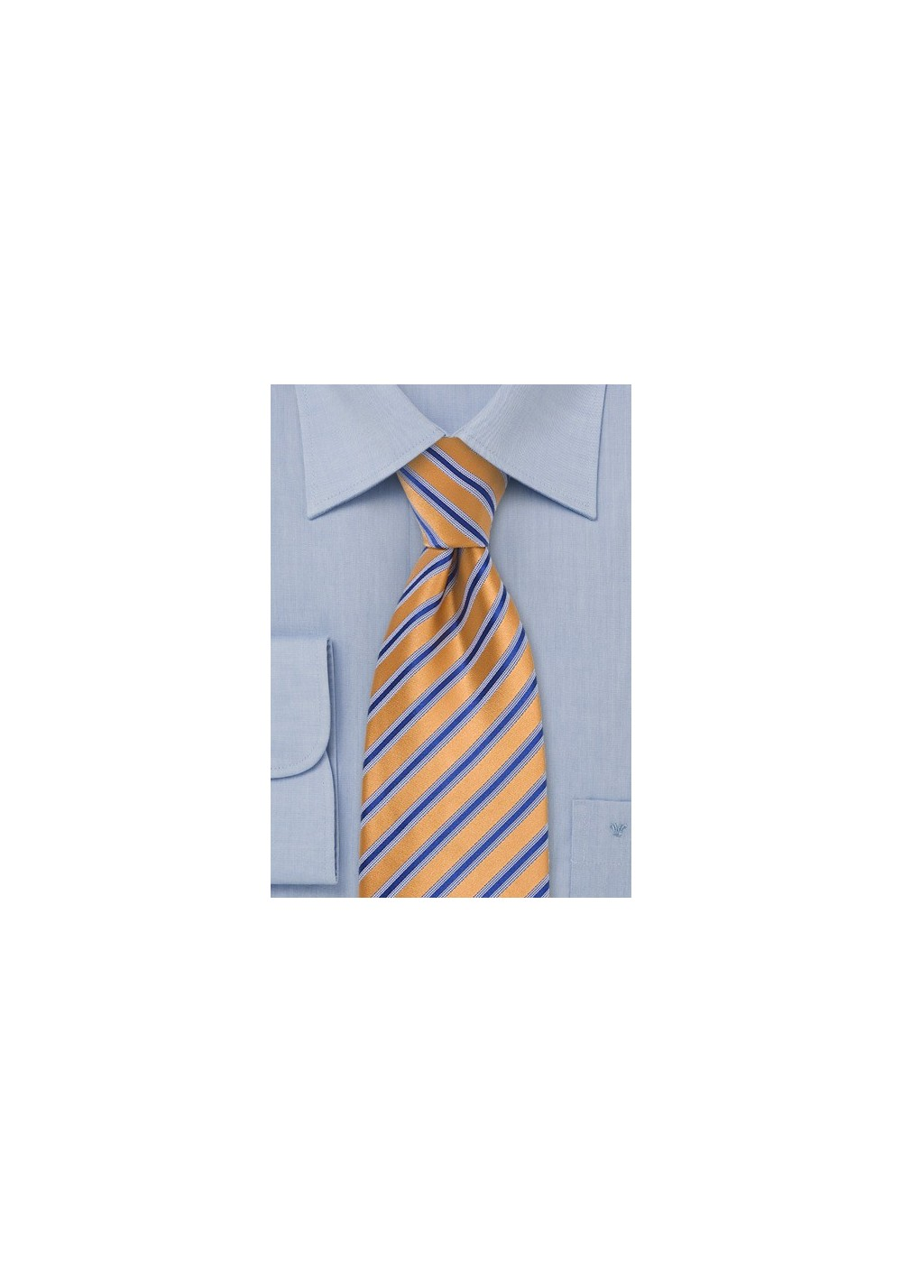 Tangerine and Navy Striped Tie