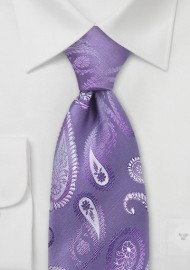 Lavender Purple Paisley Tie