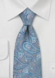 Mosaic Blue Paisley Tie