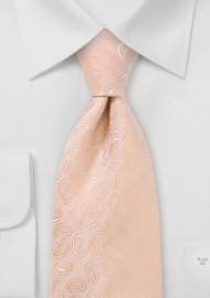 Pastel Peach Paisley Tie