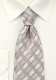 Oatmeal-Tan Silk Tie