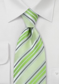 Pastel Green Striped Tie