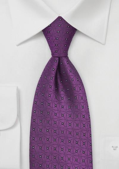Bright Purple Designer Tie