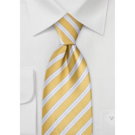 Handmade Yellow Designer Tie