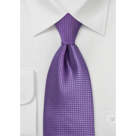 Fine Silk Tie in Electric Purple