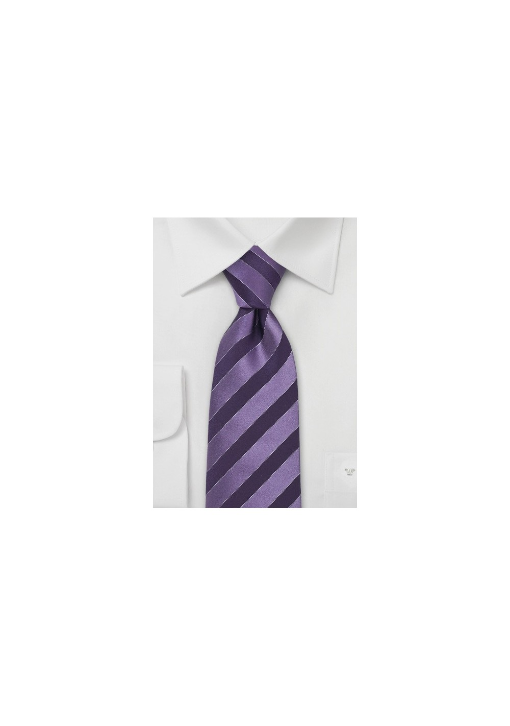 Lavender & Eggplant Striped Tie