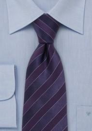 Dark Purple Striped Tie