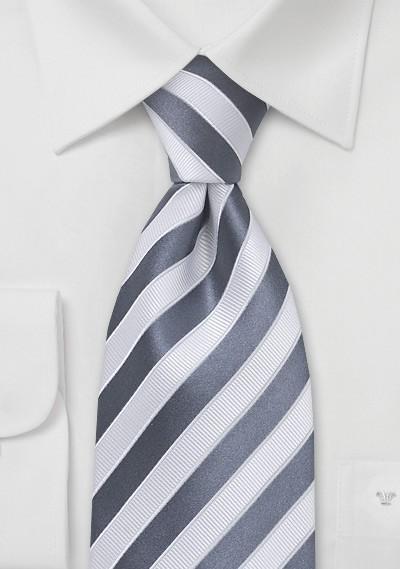 Smoke Gray and White Tie