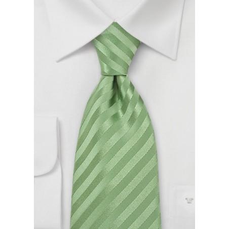 XL Length Light Green Tie