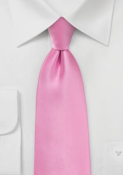 Solid Bright Pink Necktie