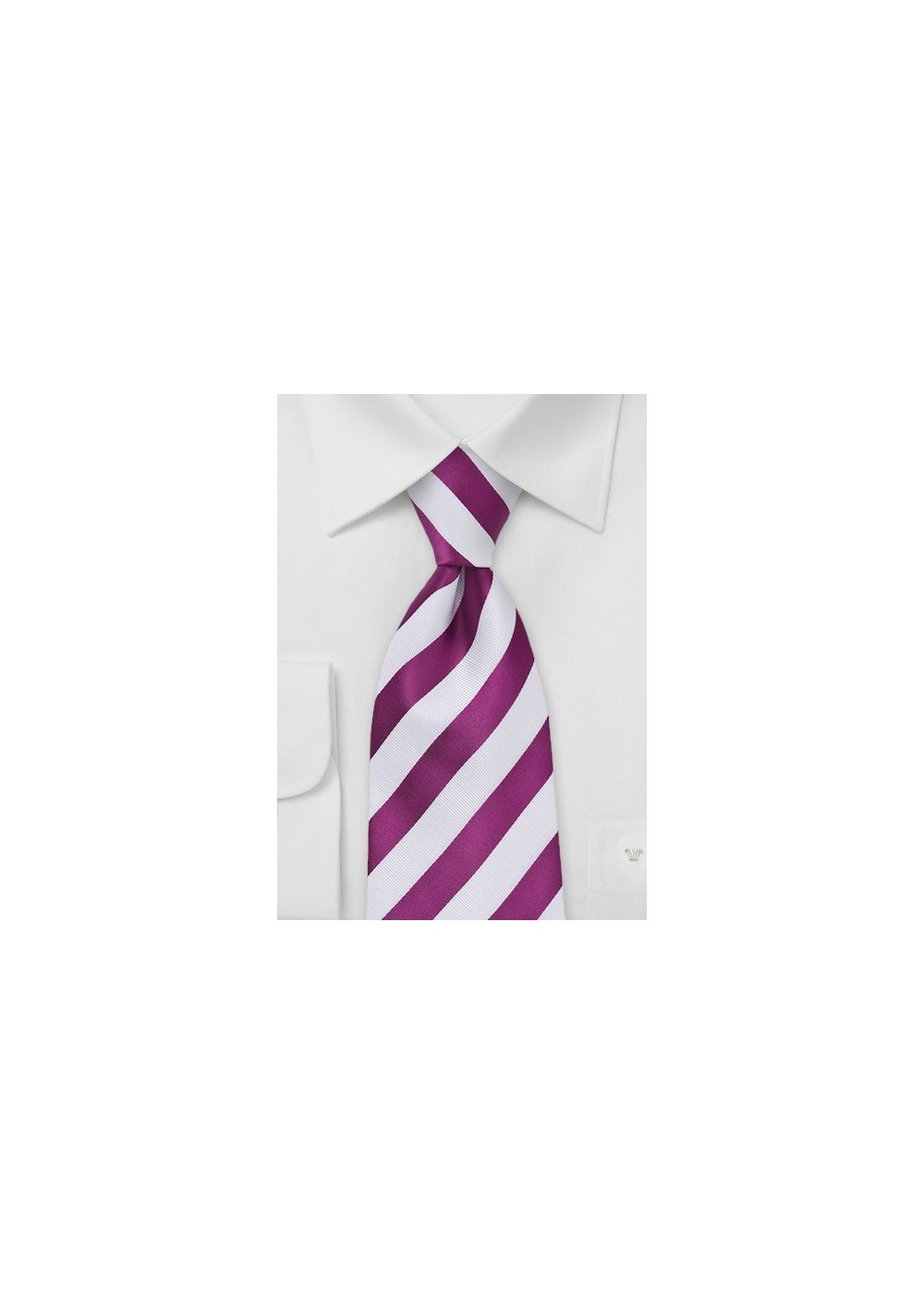 Hot Pink and White Striped Tie