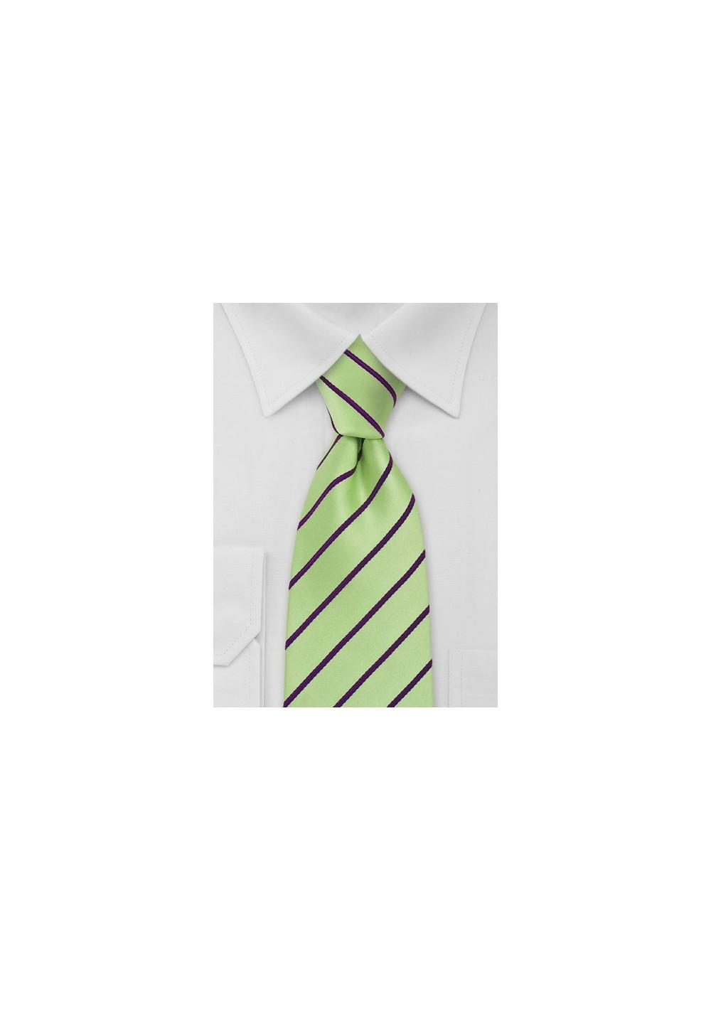 XXL Tie in Mint Green Purple
