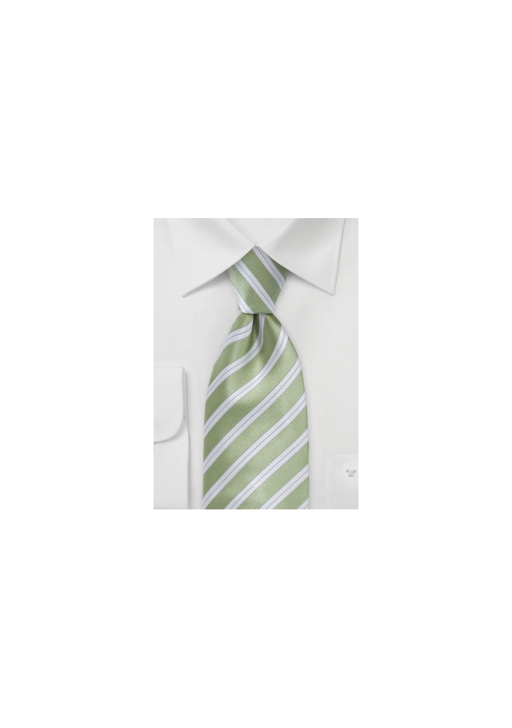 Striped Tie in Clover Green