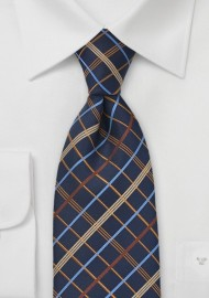 Power Plaid Tie in Navy