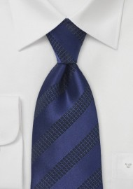 Blue and Black Patterned Tie