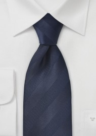 Striped Tie in Midnight Blue