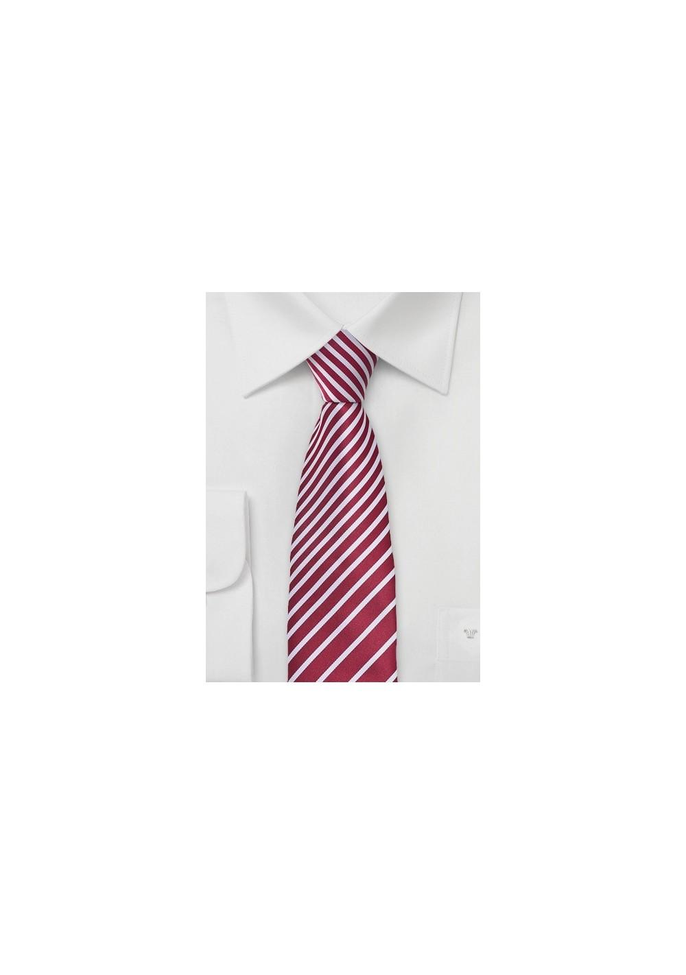 Modern Striped Tie in Rosewood