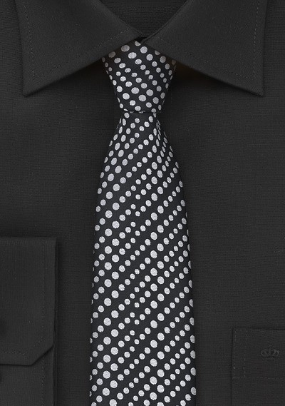 Modern Dotted Skinny Tie