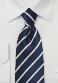Striped Midnight Blue Tie