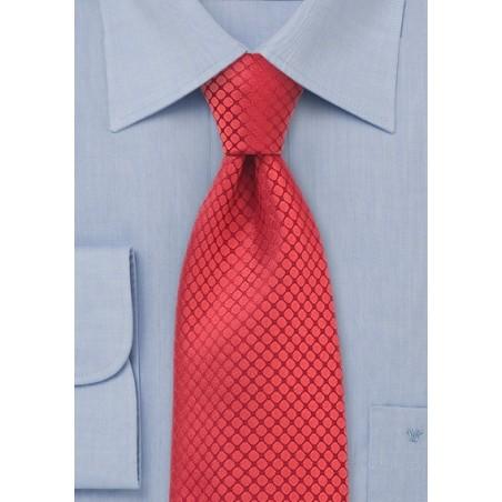 Red Kids Silk Designer Tie