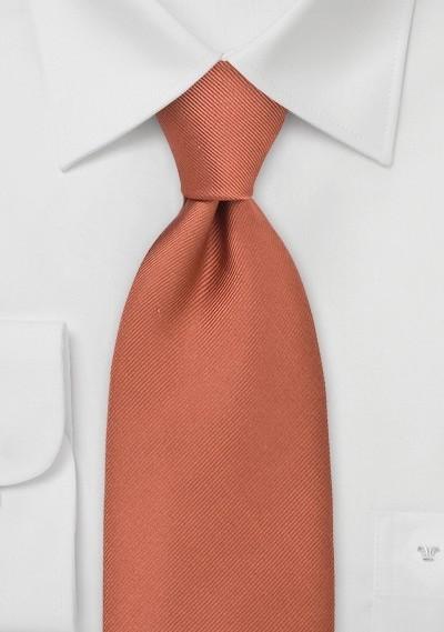 Solid Autumn Orange Tie