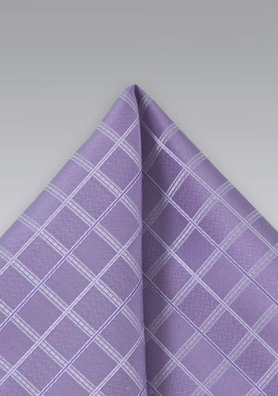Wisteria Purple Plaid Pocket Square