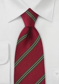 Regimental Tie in Vivid Red