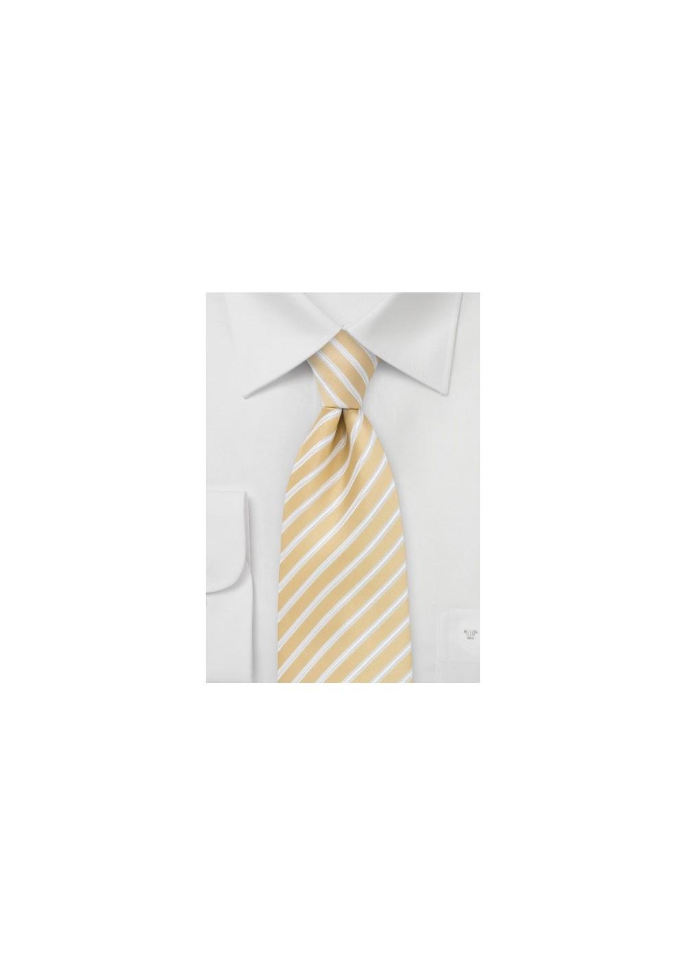 Harvest Yellow Striped Tie